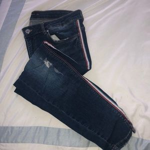 ZARA skinny Jean with side stripe